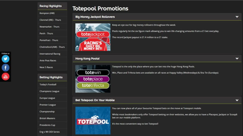 Totepool Promotions