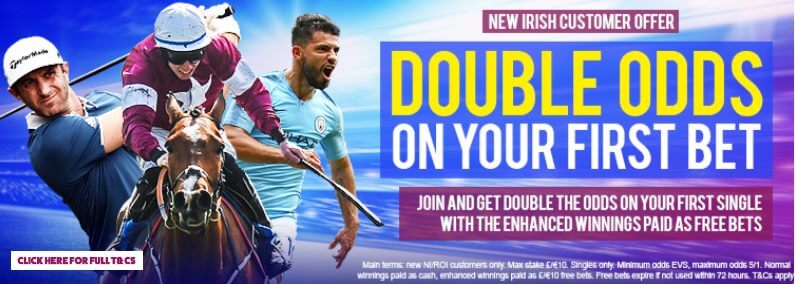 Toals Coupon Code Welcome Offer - New Irish Customer offer - Double Odds on your first bet - T&Cs apply, read below
